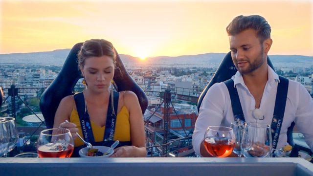 Für Nadine und Daniel geht es bei ihrem Einzeldate in Athen bei einem