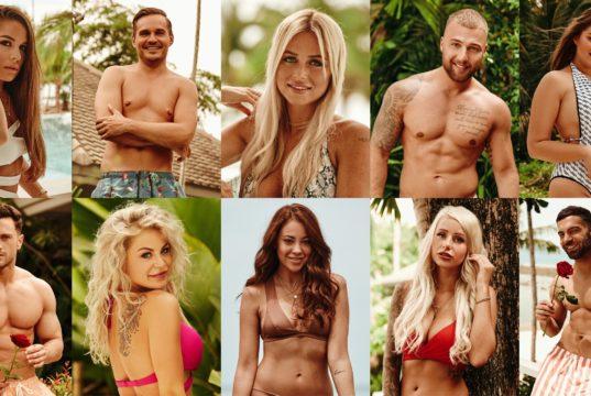 """Das sind die ersten Kandidaten der zweiten """"Bachelor in Paradise""""-Staffel: oben v.l.: Meike, Sören, Jade, Filip und Ernestine unten v.l.: Sebastian, Michelle, Natalie, Carina und Rafi (Foto: TVNOW)"""